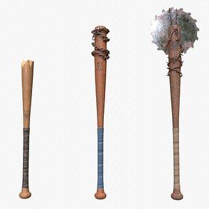 baseball bats assets 3D model