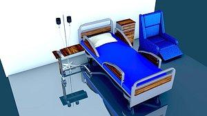 3D HOSPITAL ROOM model