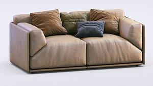 3D model Meridiani Sofa Bacon