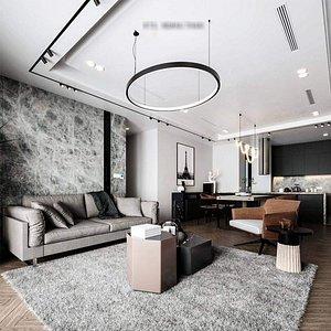 3D 3D model Cool Livingroom
