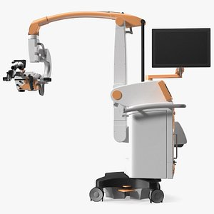 3D Surgical Microscope Rigged