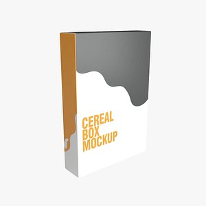 cereal box 3D
