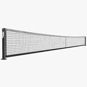 3D tennis net court model