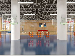 3D Basketball court basketball hall gymnasium stadium model