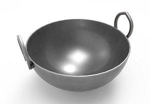 Cauldron Metal Kadai 3D