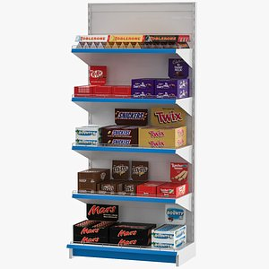 3D chocolate shelves model