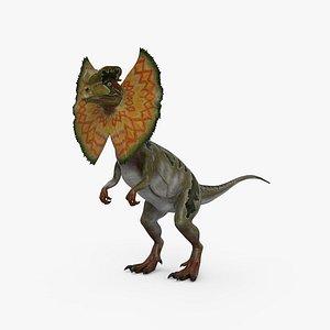 dilophosaurus neck 3D