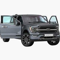 Generic Pickup 2022 Opening doors and trunk
