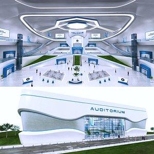Futuristic E-Congress Lobby - 9 model