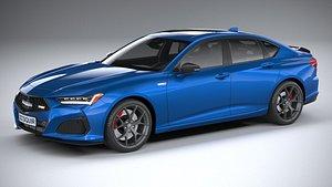 3D Acura TLX Type S 2021
