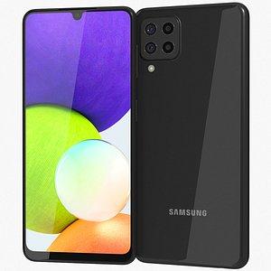 Samsung Galaxy A22 4G Black 3D model