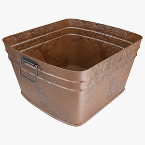 3D Rusty Square Tub model