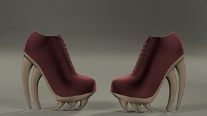 Women ankle boots 002 3D model