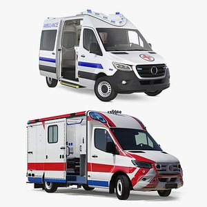 3D rigged ambulances