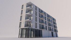 3D commercial residential building model