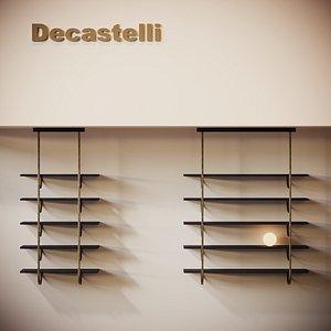 3D talea shelf