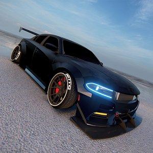 3D Dodge Charger SRT 2022 tuned 3D model