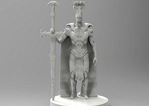 - demon knight print 3D model