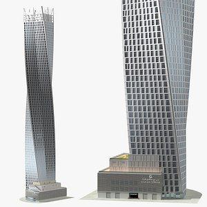 Cayan Tower Skyscraper model