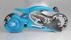 3D bugatti motorcycle