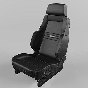 3D RECARO Orthoped Leather black Seat