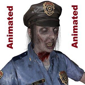 3D model zombie police man