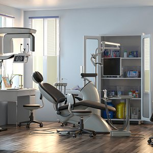 dentist chair 3D
