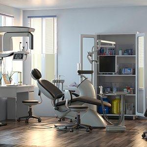 dentist chair 3D