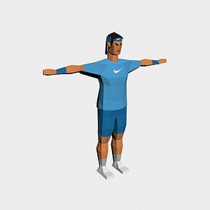 3D tennis player