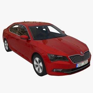 3D model Skoda Superb 2015-2019