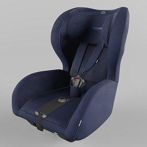 3D Recaro KIO Children Car Seat Select Pacific Blue model