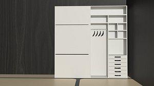 closet modern 3D