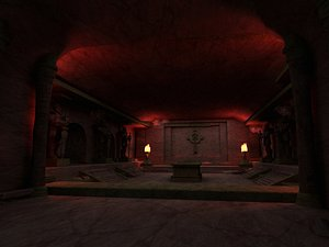tombs underground palaces coffins 3D model