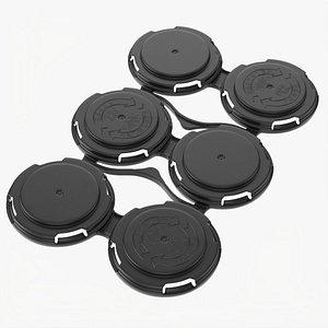 3D Clip PAK Carrier Handle 6Pak Standard Can model