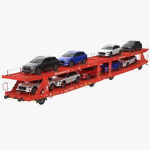 Laaers 560 Car Transporter with Audi E Tron model