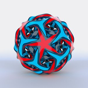 abstract object 3D model