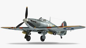 3D hawker hurricane fighter model