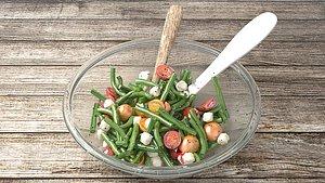 3D salad vegetable food model