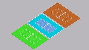 3D sport tennis model