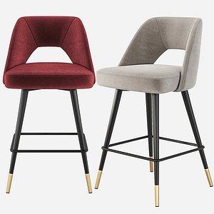 3D avorio counter stool