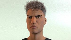 3D African Male 02 model
