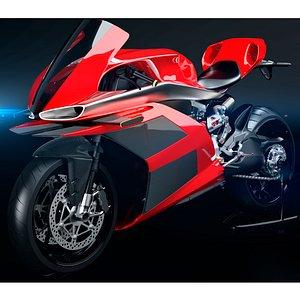 3D model moto motorcycle