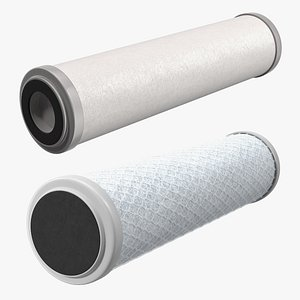 Water Filter Cartridges Collection 3D model