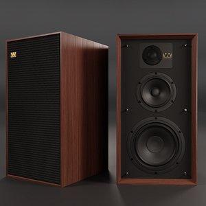 Wharfedale LINTON Heritage Loudspeakers 3D model
