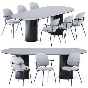 3D Dining Table MM8 by Desalto model