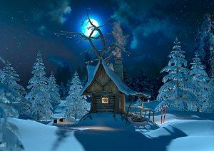 3D model fairy house