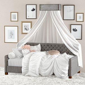 3D devyn tufted velvet daybed