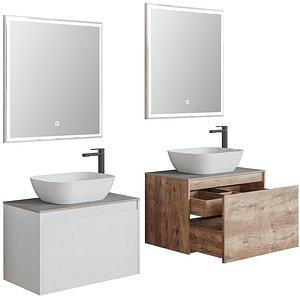 Nova Lite 75 rochelle oak-rustic- white 1 drawers 3D model