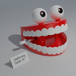 3D chattering teeth model