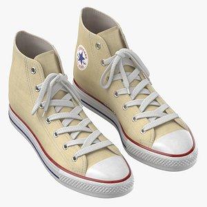 Basketball Shoes Light Yellow 3D model
